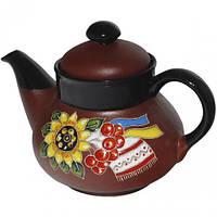 Чайник заварочный ST Добра глина Рушник 1000 мл Коричневый ST-531003psg, КОД: 295886