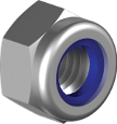 Гайка самостопорящаяся с пластиковым кольцом, низкая | DIN985 Гайка М4 самостоп 6 цб  [6P20000006P0420000]