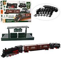 ЖД 814-1  74-74см, локомотив- звук, свет, вагон 2шт, 16дет, на бат-ке, в кор-ке, 50-29,5-6см