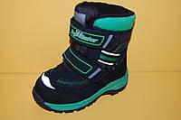 Детская зимняя обувь Термообувь B&G Украина 175-19 Для мальчиков Черный размеры 23_26