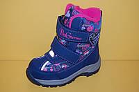 Детская зимняя обувь Термообувь B&G Украина 175-22 Для девочек Синие размеры 24_29, фото 1