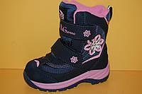 Детская зимняя обувь Термообувь B&G Украина 195-62 Для девочек Синий размеры 23_28, фото 1