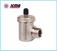 Воздухоотводчик с автоматическим клапаном Icma № 715 (угловой)
