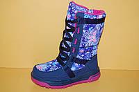 Детская зимняя обувь Термообувь B&G Украина 191-1205 Для девочек Синие размеры 27_32, фото 1