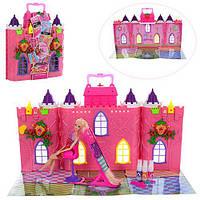 Замок 68034 (9шт) принцессы,кукла-шарнирн,31см,трафар,краска для волос,картон.обертка,34-37-10см