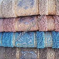 Махровое банное полотенце Роза с узором, фото 1