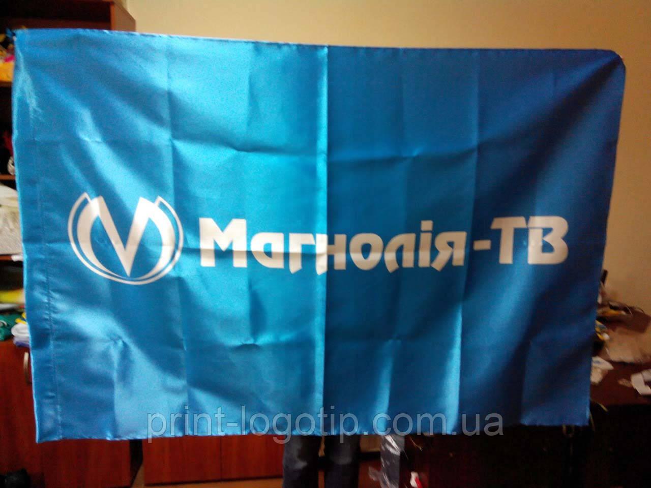 Печать флагов, флаги с логотипом, флаг с надписью