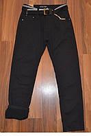 УТЕПЛЁННЫЕ, Котоновые брюки на флисе для мальчиков подростков.ШКОЛА! размеры 152 - см., фото 1