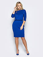Теплое женское платье play до колена L 48 синий UAJJ255_4