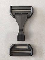 Карабін сумковий пластик 41 мм чорний, фото 1