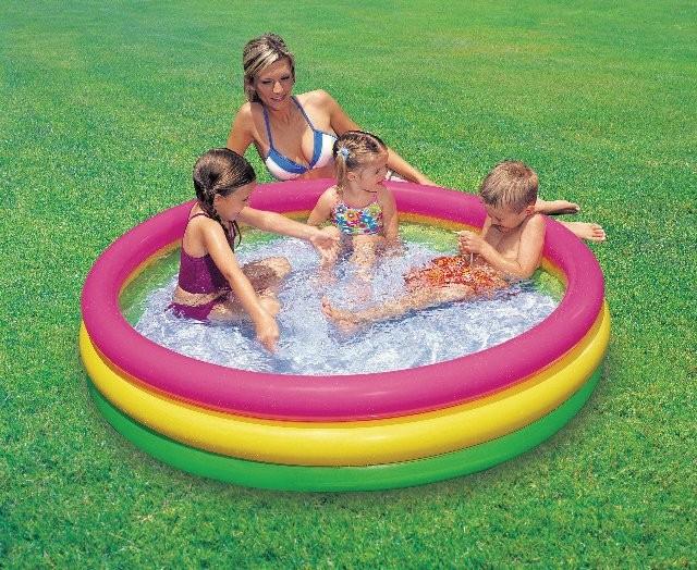детский надувной бассейн интекс