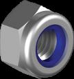 Гайка самостопорящаяся с пластиковым кольцом, низкая | DIN985 Гайка М3 самостоп 6 цб  [6P20000006P0320000]