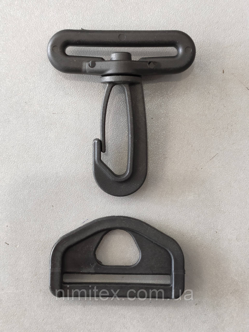 Карабин сумочный пластик 40 мм черный