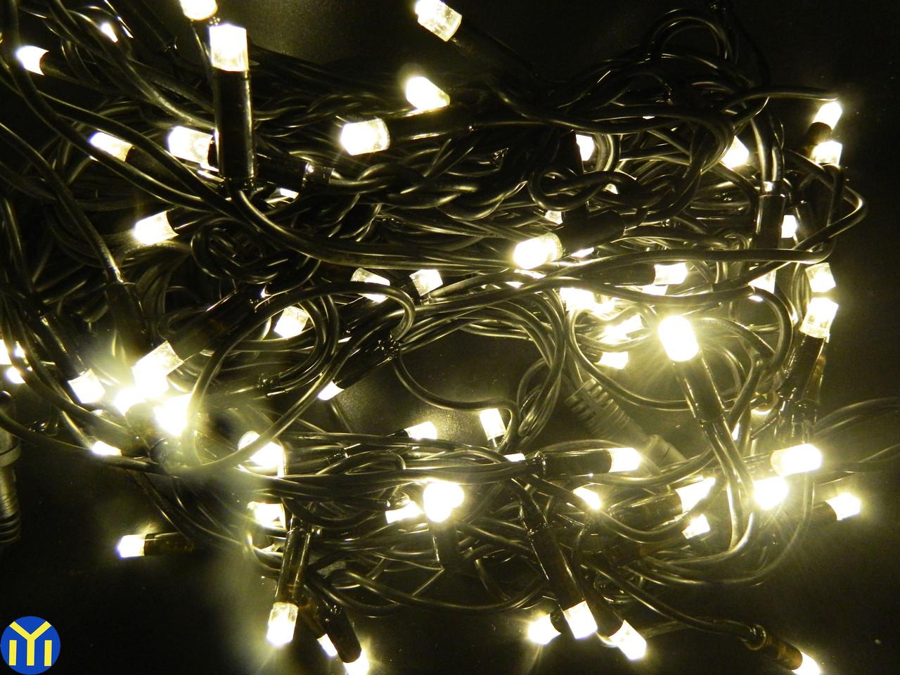 Гирлянда светодиодная Бахрома 80 LED, уличная 3м.  тепло-желтая