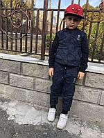 Спортивный костюм турецкий на мальчиков 128,134,140 роста Militari  синий
