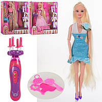 Кукла  парикмахер  29 см    набор парикмах,аксесс,плойка,бат