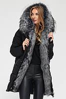 Куртка-парка пуховик женская черная LS-8806-8