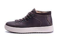 Мужские зимние кожаные ботинки ZG Chocolate Exclusive, фото 1