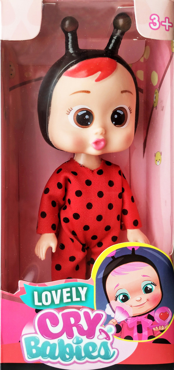 Кукла cry babies плакса Lady в костюме Божья коровка sco sco