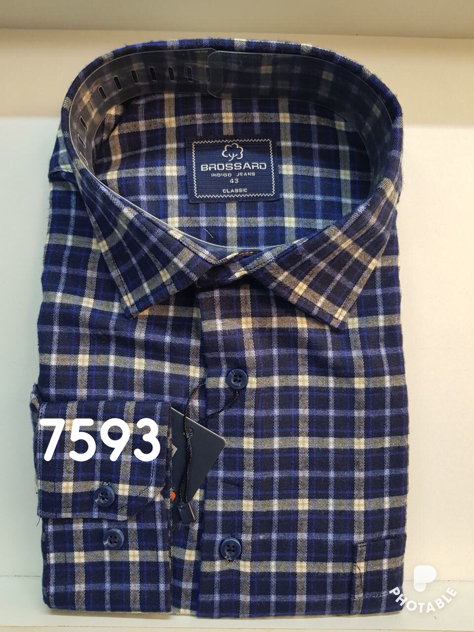 Мужская рубашка кашемир Brossard-7593