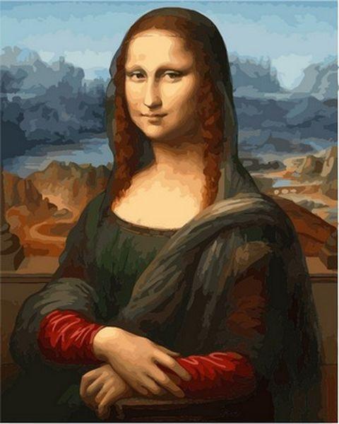 Раскраски по номерам 40×50 см. Мона Лиза (Джоконда)