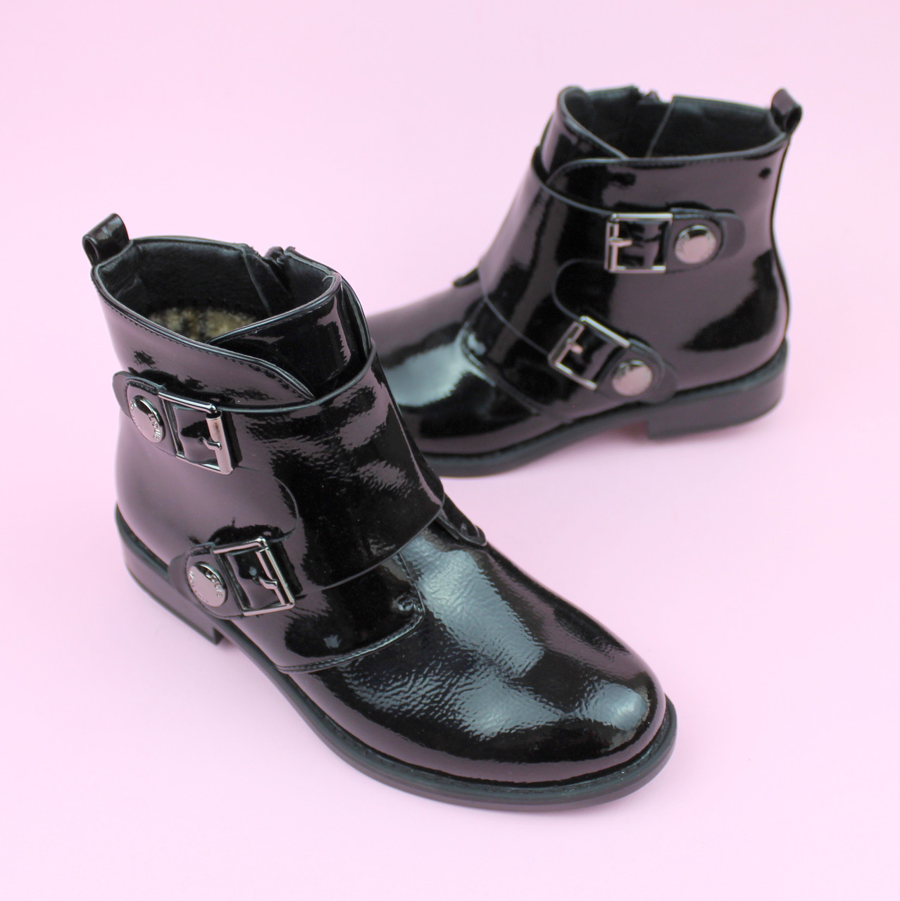 Ботинки демисезонные на девочку розовые тм Bi&Ki размер 37,38