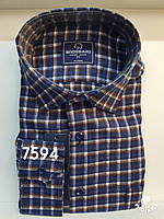 Мужская рубашка кашемир Brossard-7594