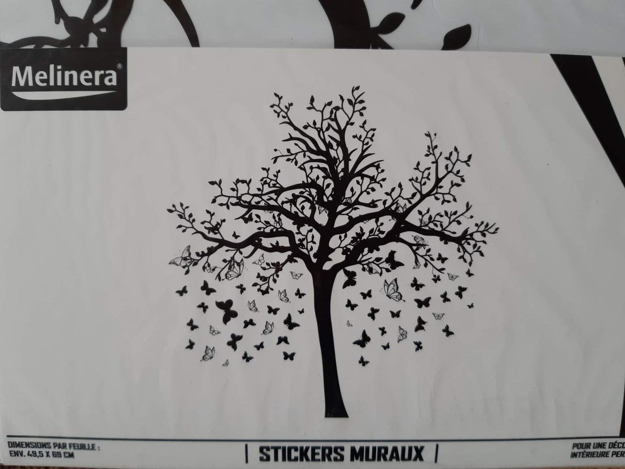 Наклейка настенная Melinera дерево/бабочки - 69*49,5см