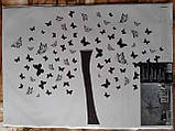 Наклейка настенная Melinera дерево/бабочки - 69*49,5см, фото 2