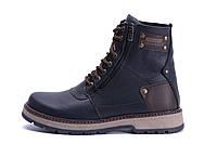 Мужские зимние кожаные ботинки ZG Black Flotar Military Style, фото 1