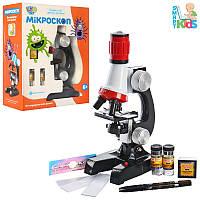 Детский обучающий набор - микроскоп, аксессуары, свет, увеличение до 1200, 2121
