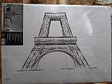 Наклейка настенная Melinera Париж - 69*49,5см, фото 2