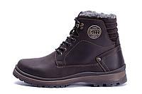 Мужские зимние кожаные ботинки ZG Clasic Brown Style, фото 1