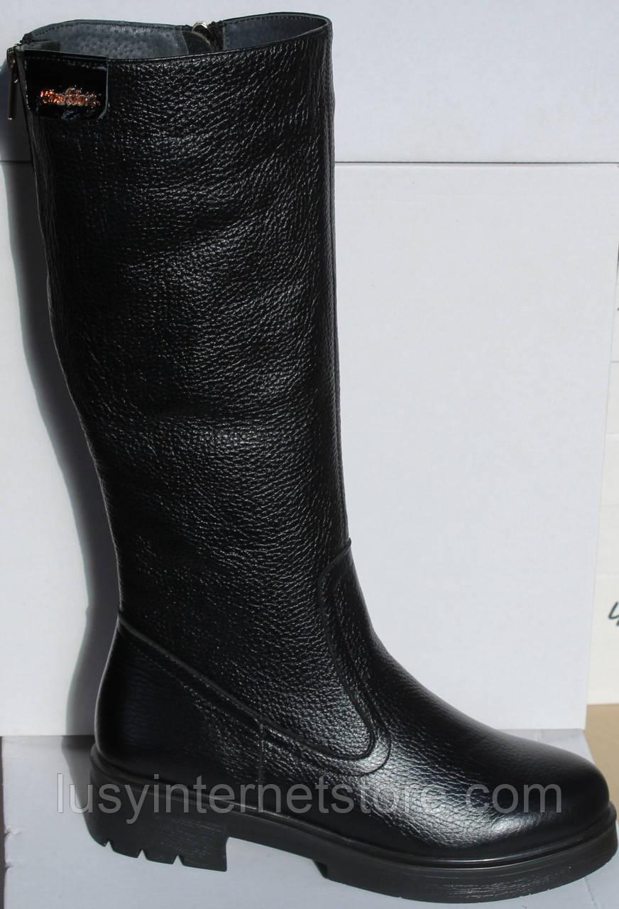 Сапоги женские зимние кожаные на каблуке от производителя модель НИК1012