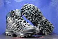 Зимние высокие подростковые кожаные кроссовки, ботинки синие BONA