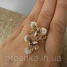 Позолоченное кольцо бабочки ювелирная бижутерия, фото 3