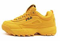 Женские кроссовки Fila Disruptor 2 Yellow (фила дисраптор 2, желтые)