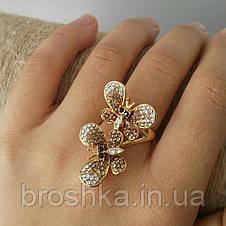 Позолоченное кольцо бабочки ювелирная бижутерия, фото 2