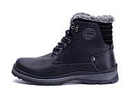 Мужские зимние кожаные ботинки ZG Clasic Black Style, фото 1