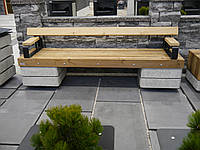 Лавочка Модерн (гаряче цинкування,полырований бетон,термоване дерево)