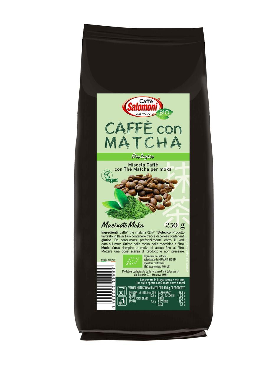 Кофе с Матча (молотый) органический Salomoni,250г