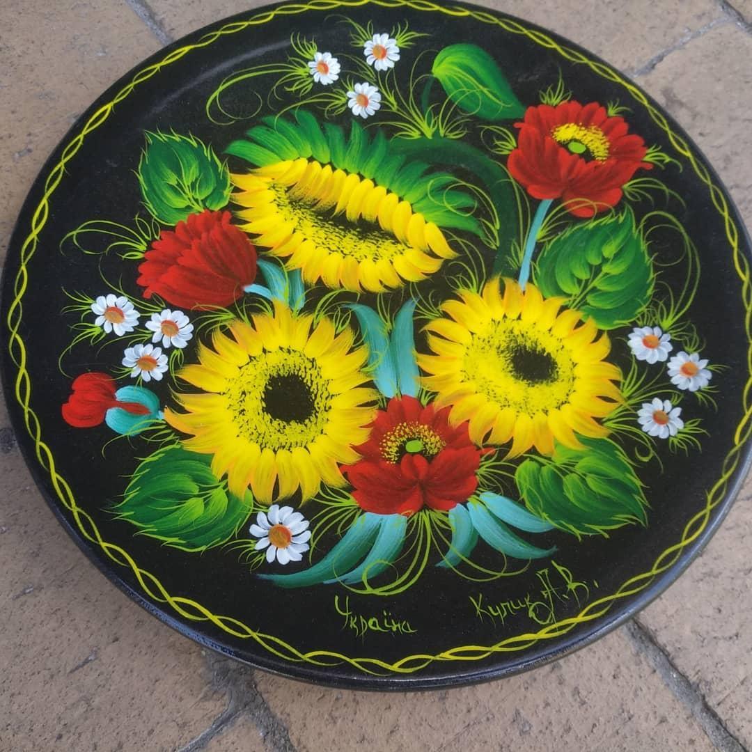 Декоративна тарілка-сувенір розписана вручну