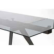 Стол стеклянный раскладной Глесси Кин чёрный (Concepto-ТМ), фото 2