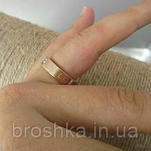 Кольцо бижутерия Bvlgari в розовой позолоте 16й размер, фото 3