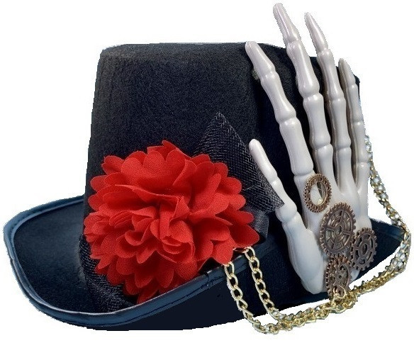 Шляпа Дракулы с кистью скелета (костюмы на Хэллоуин)