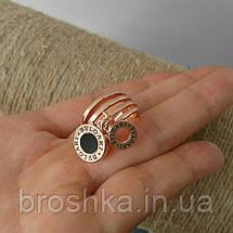 Кольца Bvlgari бижутерия в розовой позолоте с подвесками, фото 3