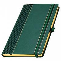 Записна книжка з тисненням в лінійку А5 золотий зріз, фото 1