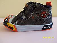 Кеды мокасины детские на мальчика EEB.B 21 размер. Детская летняя обувь. Текстильная обувь