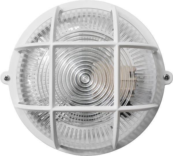 Світильник ЖКГ НВП-65 ПП-1051-10-1/6 коло білий/прозорий з малюнком з гратами IP65 Е27