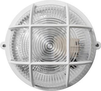 Светильник ЖКХ НПП-65 ПП-1051-10-1/6 круг белый/прозрачный с рисунком с решеткой IP65 Е27